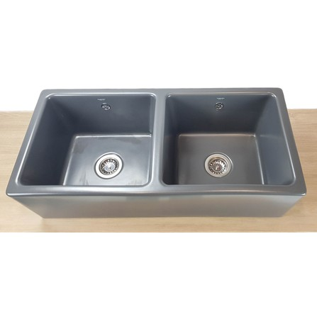 Evier Timbre D'office Belfast 2 cuves anthracite