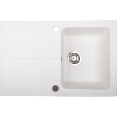 Évier en granit Brenor modèle CARINA 1 cuve blanc