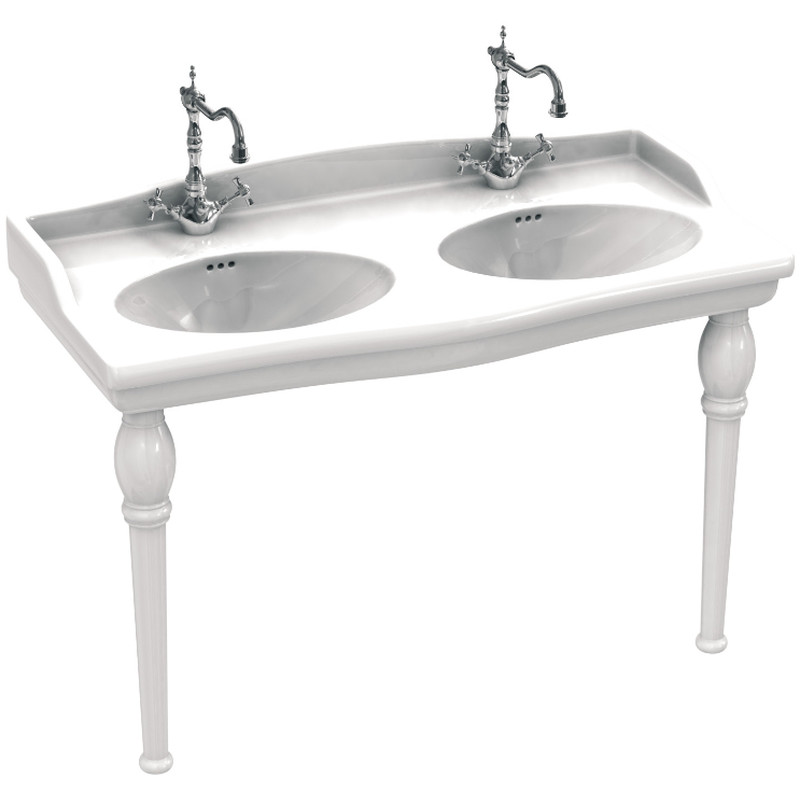 lavabo sarreguemines louxor blanc double vasque. Black Bedroom Furniture Sets. Home Design Ideas